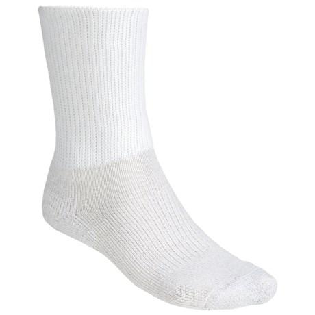 Thorlo Dress Socks - Medium Cushion, Crew (For Men and Women) in White