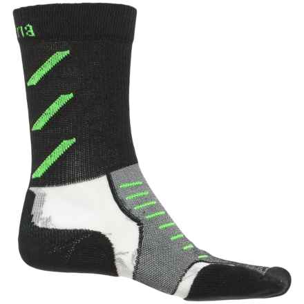 Thorlo Experia CoolMax® Socks - Crew (For Men and Women) in Jet Green - Closeouts