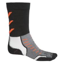 Thorlo Experia CoolMax® Socks - Crew (For Men and Women) in Jet Orange - Closeouts