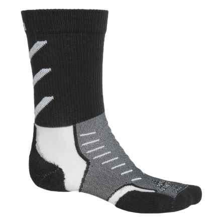 Thorlo Experia CoolMax® Socks - Crew (For Men and Women) in Jet White - Closeouts