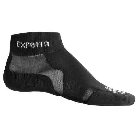 Thorlo Experia Socks - Ankle (For Men and Women) in Solid Black - 2nds