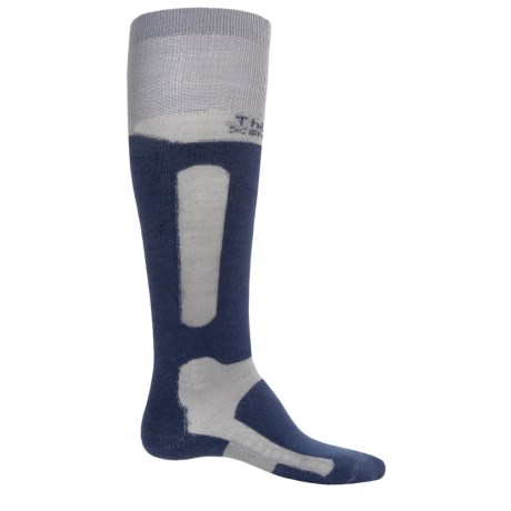 Thorlo Extreme Boarding Socks - Thermolite®, Over the Calf (For Men and Women) in Steel/Patriot