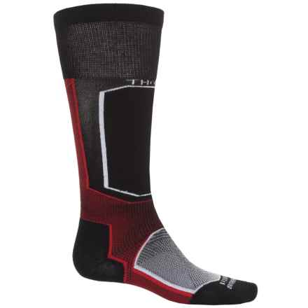 Thorlo Extreme Ski Socks - Thermolite®, Over the Calf (For Men and Women) in Fire Raven - 2nds