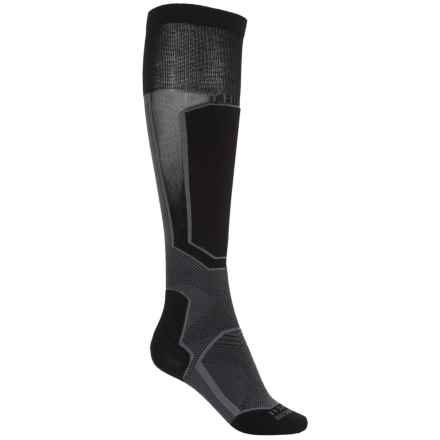 Thorlo Extreme Ski Socks - Thermolite®, Over the Calf (For Men and Women) in Steele Raven - 2nds