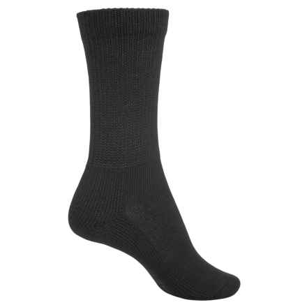 Thorlo Health Padds Socks - Crew (For Women) in Black - 2nds