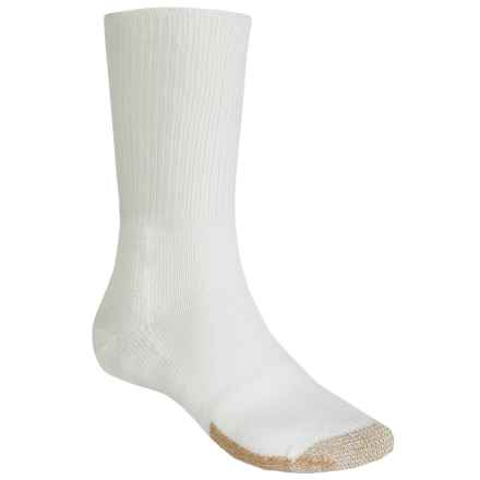 Thorlo Heavyweight Tennis Socks - Crew (For Men and Women) in White/Tan - 2nds