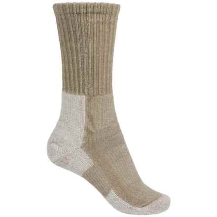Thorlo Hiking Socks - Wool-Silk, Crew (For Women) in Khaki - 2nds