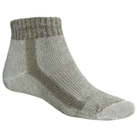 Thorlo Light Hiking CoolMax® Socks - Quarter Crew (For Men and Women) in Scout/G. Leaf - 2nds