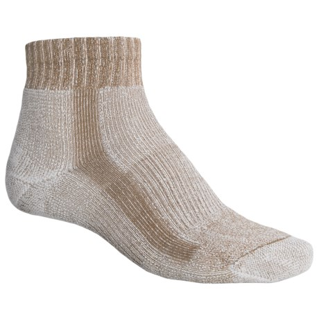 Thorlo Light Hiking CoolMax® Socks - Quarter Crew (For Men) in Walnut Heather