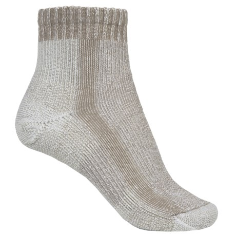Thorlo Light Hiking Socks - CoolMax®, Quarter Crew (For Women) in Khaki
