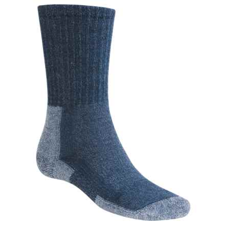 Thorlo Light Hiking Socks - Merino Wool, Crew (For Men) in Navy Heather - 2nds