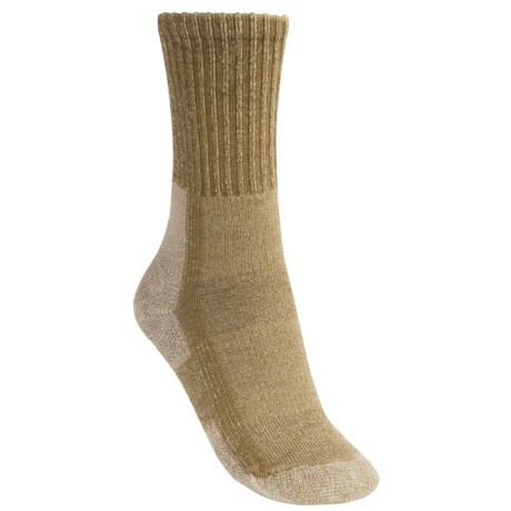 Thorlo Light Hiking Socks - Merino Wool, Crew (For Women) in Khaki Heather