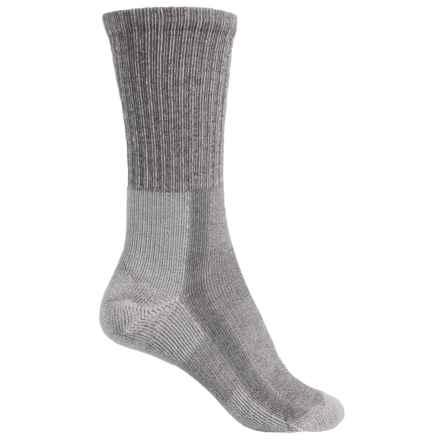 Thorlo Light Hiking Socks - Wool-Silk, Crew (For Women) in Cloudburst Grey - 2nds