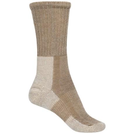 Thorlo Light Hiking Socks - Wool-Silk, Crew (For Women) in Khaki Heather