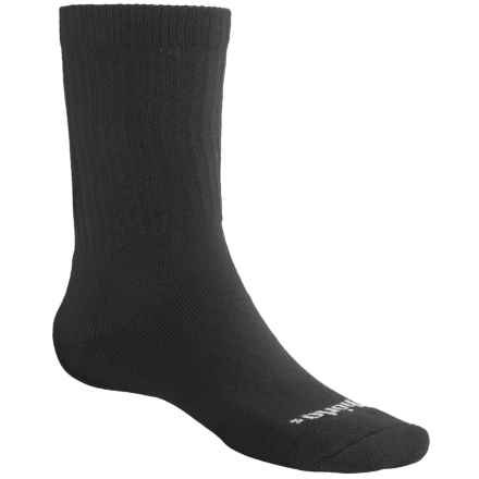 Thorlo Midweight Hiking Socks – CoolMax® Polyester, Crew (For Men) in Black - 2nds