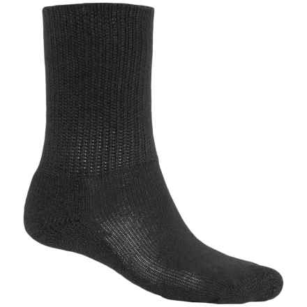 Thorlo Padds THOR-LON® Crew Socks (For Men and Women) in Black - 2nds