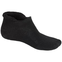 Thorlo Rolltop THOR-LON® Tennis Socks - Below the Ankle (For Men and Women) in Black - 2nds