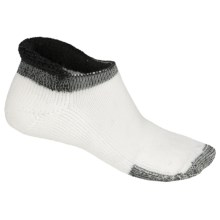 Thorlo Rolltop THOR-LON® Tennis Socks - Below the Ankle (For Men and Women) in White/Black - 2nds