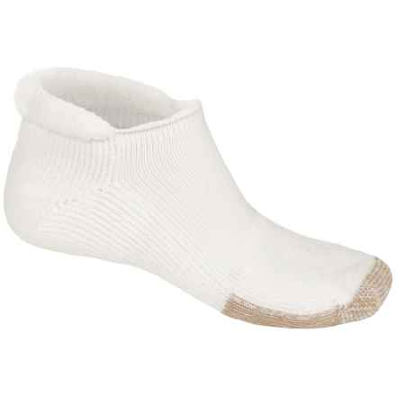 Thorlo Rolltop THOR-LON® Tennis Socks - Below the Ankle (For Men and Women) in White/Tan - 2nds