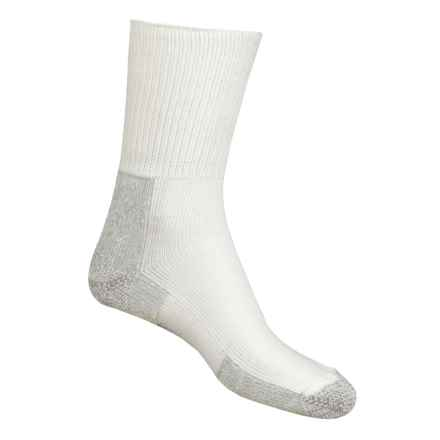 Thorlo Running Crew Socks - Heavyweight (For Men and Women) in Grey Heather / White - 2nds