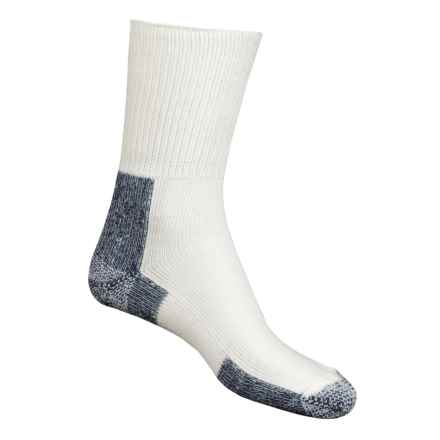 Thorlo Running Crew Socks - Heavyweight (For Men and Women) in Navy Heather / White - 2nds