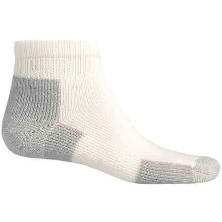 Thorlo Running Mini Crew Socks - Quarter Crew (For Men and Women) in White/Platinum - 2nds