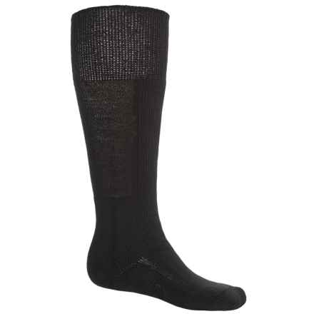 Thorlo Thick Cushion Ski Socks - Over the Calf (For Men and Women) in Diamond Black - 2nds