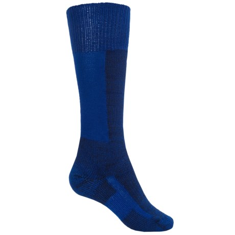 Thorlo Thick Cushion Ski Socks - Over the Calf (For Men and Women) in Laser Blue/Black