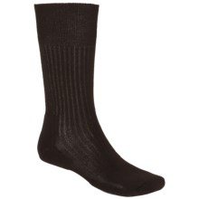 Thorlo Thin Cushion Dress Socks - Crew (For Men) in Brown - 2nds