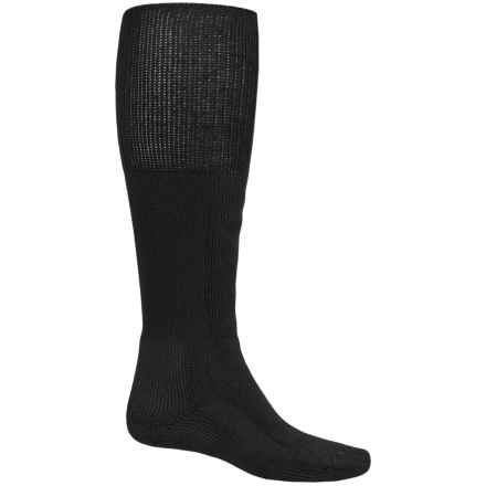Thorlo THOR-LON® Boot Socks - Heavyweight, Over the Calf (For Men and Women) in Black - 2nds
