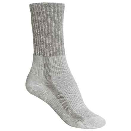 Thorlo THOR-LON® Cool-Max® Hiking Socks - Crew (For Women) in Cloudburst Grey - 2nds