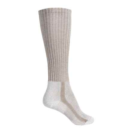Thorlo THOR-LON® CoolMax® Light Hiking Socks - Over the Calf (For Women) in Khaki Heather - 2nds