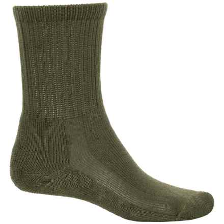Thorlo THOR-LON® Hiking Socks - Crew (For Big Kids) in Olive - 2nds
