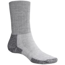 Thorlo THOR-LON® Hiking Socks - Crew (For Men and Women) in Grey/Black - 2nds
