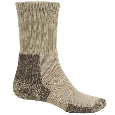 Thorlo THOR-LON® Hiking Socks - Crew (For Men) in Khaki Heather - 2nds