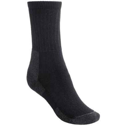 Thorlo THOR-LON® Hiking Socks - Crew (For Women) in Black - 2nds