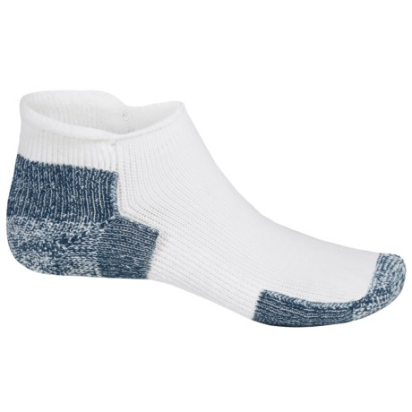 Thorlo THOR-LON® Rolltop Running Socks - Rolltop ankle (For Men and Women) in White/Navy