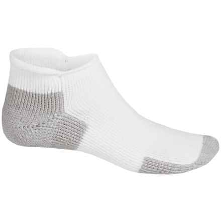 Thorlo THOR-LON® Rolltop Running Socks - Rolltop ankle (For Men and Women) in White/Platinum - 2nds