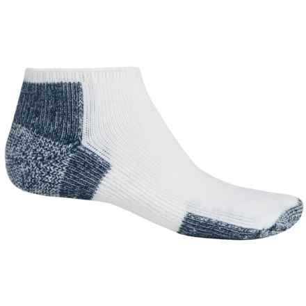 Thorlo THOR-LON® Running Socks - Micro Mini Crew (For Men and Women) in White/Navy - 2nds