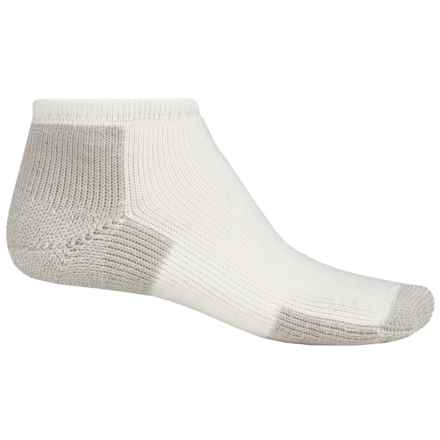 Thorlo THOR-LON® Running Socks - Micro Mini Crew (For Men and Women) in White/Platinum - 2nds