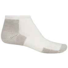 Thorlo THOR-LON® Running Socks - Micro Mini Crew (For Men and Women) in White - 2nds