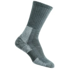 Thorlo THOR-LON® Trail Hiking Socks - Crew (For Women) in Oyster Grey - 2nds