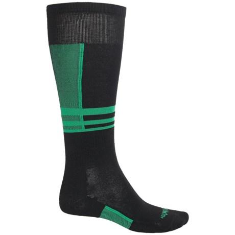 Thorlo THOR-WICK Maximum Edge Control Ski Socks - Over the Calf (For Men and Women) in Mogul Mint