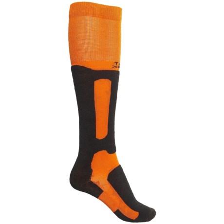 Thorlo THOR-WICK Snowboarding Socks - Over the Calf (For Men and Women) in Orange/Black