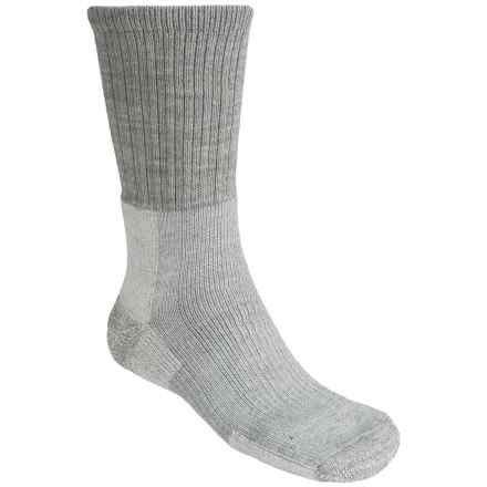 Thorlo Trekking Socks - Heavyweight, Crew (For Men and Women) in Light Grey - 2nds