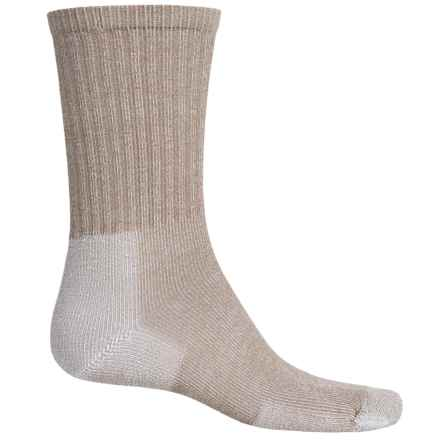 Thorlo Ultralight Hiking Socks - CoolMax®, Crew (For Men and Women) in Cornstalk Brown - 2nds