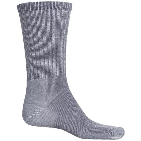 Thorlo Ultralight Hiking Socks - CoolMax®, Crew (For Men and Women) in Quarry Grey