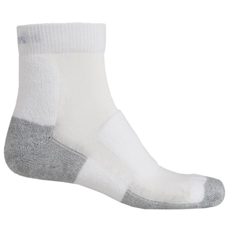 Thorlo Walking Mini Crew Socks - Ankle (For Men and Women) in White/Platinum