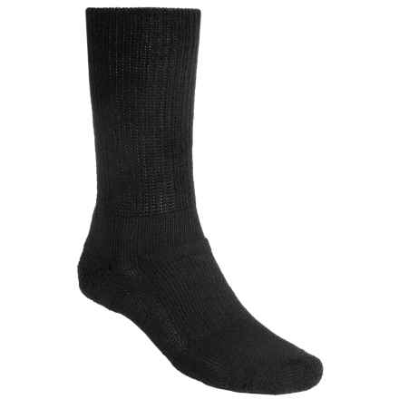 Thorlo Walking Socks - Crew (For Men and Women) in Black - 2nds