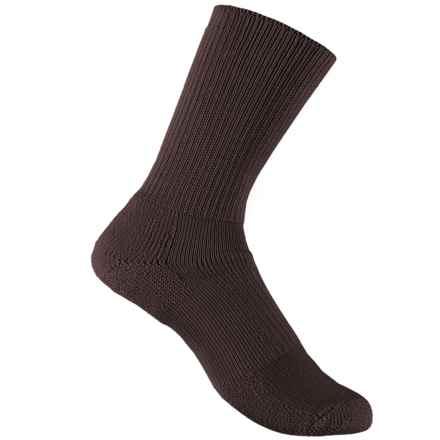 Thorlo Walking Socks - Crew (For Men and Women) in Brown - 2nds
